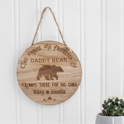 Personalised Bear Hanging Sign - The Bespoke Workshop