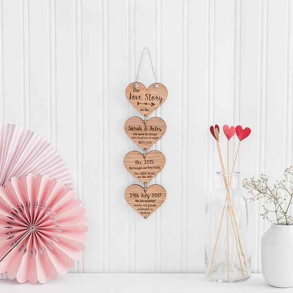 Hanging Hearts Made of Wood - The Bespoke Workshop