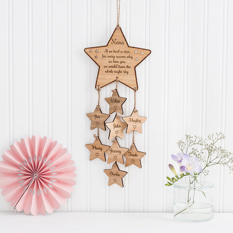 Personalised Hanging Star Wall Plaque Decoration
