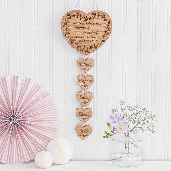 Hanging Wall Plaque 'This home belongs to.... where cousins become great friends'