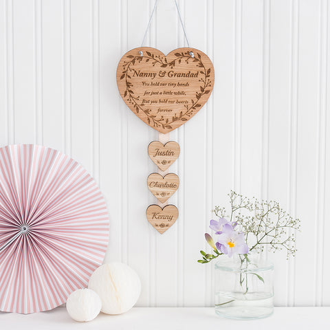 Hanging Wall Plaque 'You hold our tiny hands... but our hearts forever'