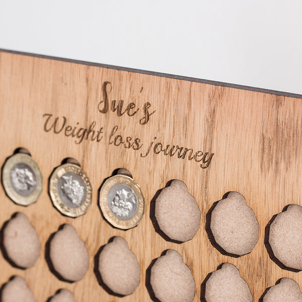 £1 for a Lb, Weight Loss Journey Board