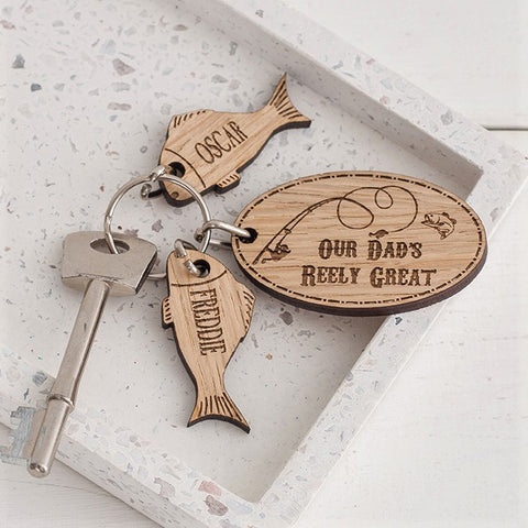 Reely great fishing keyring with charms