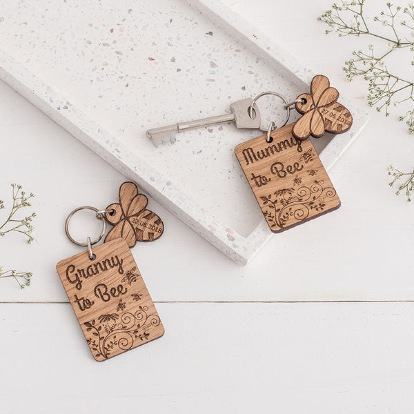 Baby Due Date Keyring & Charm Set