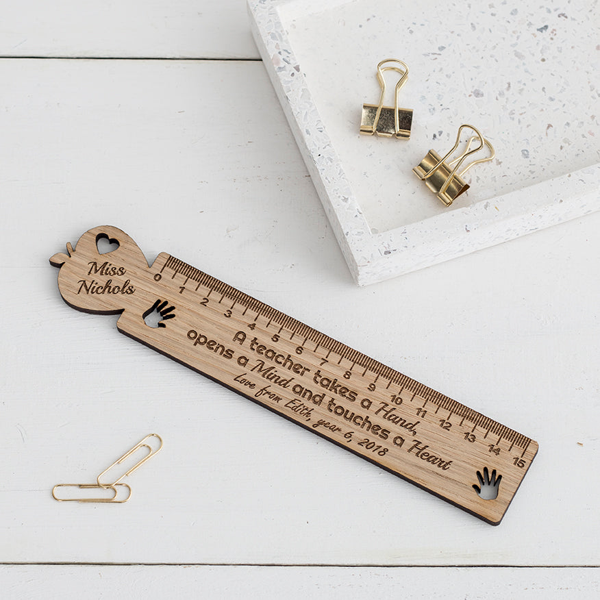 Teacher's Personalised Wooden Ruler