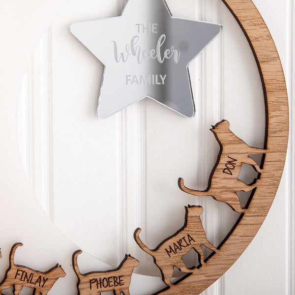 Laser Cut Personalised Cats - The Bespoke Workshop