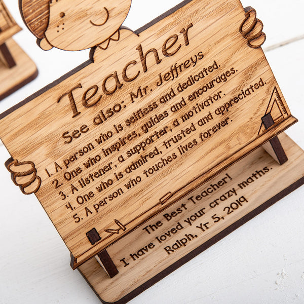 Personalised Definition of Teacher Stands