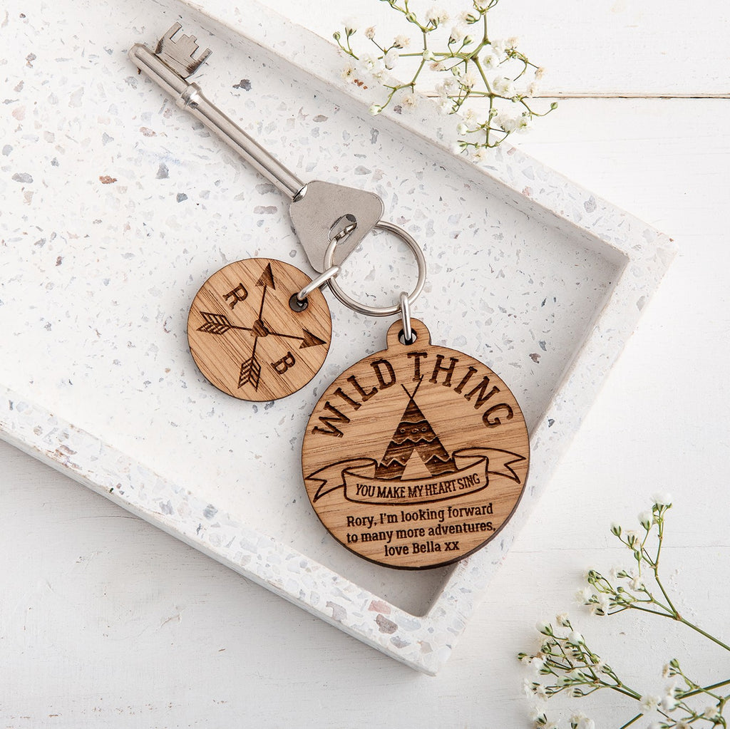 Couples Personalised Adventure Keyring - The Bespoke Workshop