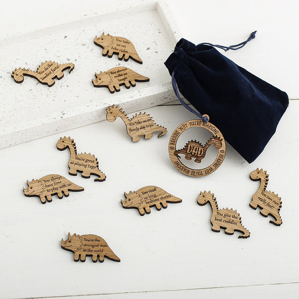 10 Roarsome Reasons I Love you... Dinosaur shaped tokens within a bag