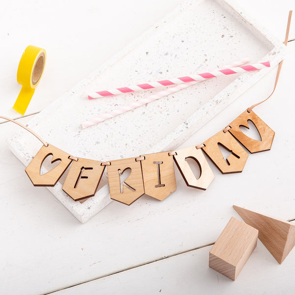 Personalised Wooden Bunting - Create your name - The Bespoke Workshop