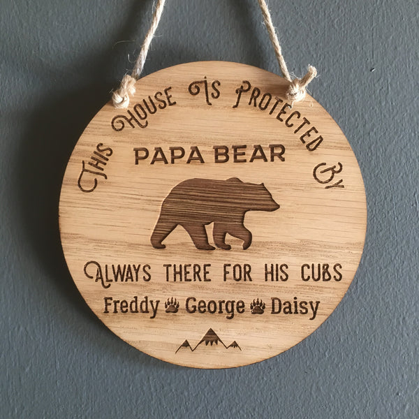 Bear Wall Sign - The Bespoke Workshop