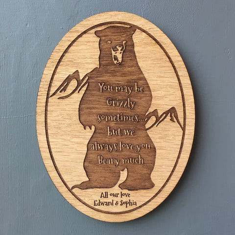 Grizzly Bear Wall Plaque - The Bespoke Workshop