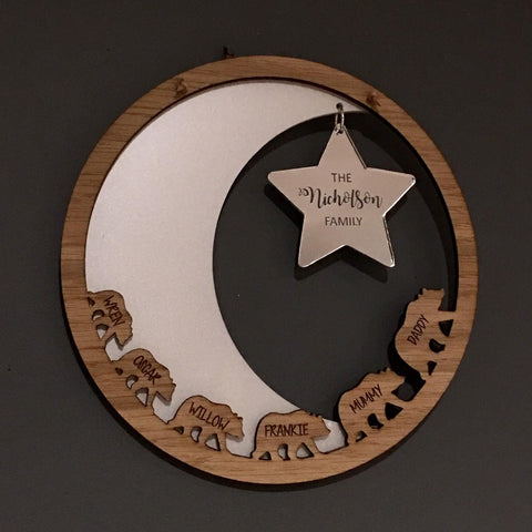 Bear, Moon & Star Wall Plaque