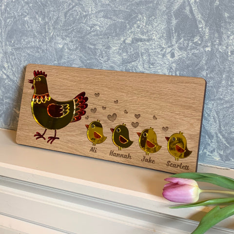 Personalised Mother Hen Wall Plaque - The Bespoke Workshop