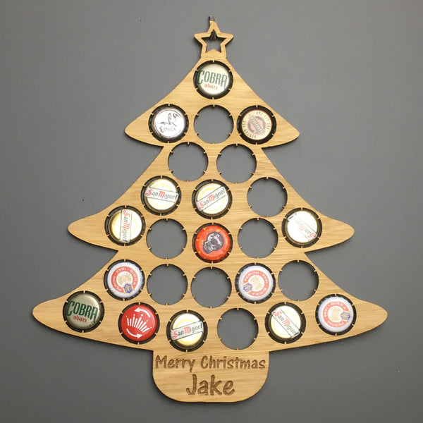 Beer Bottle Top Christmas Tree Advent Calendar