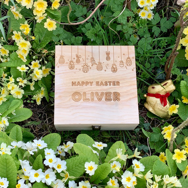 Wooden Easter Box - Personalised Easter Eggs