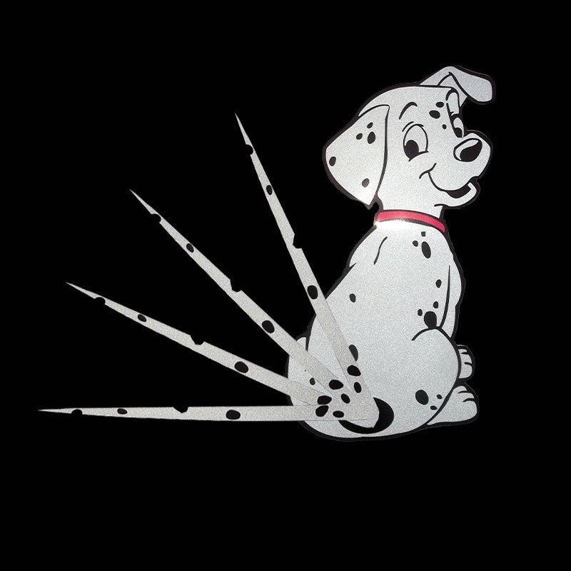 Dog Moving Tail Stickers Reflective