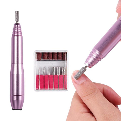 Portable Mini Electric Nail Polishing