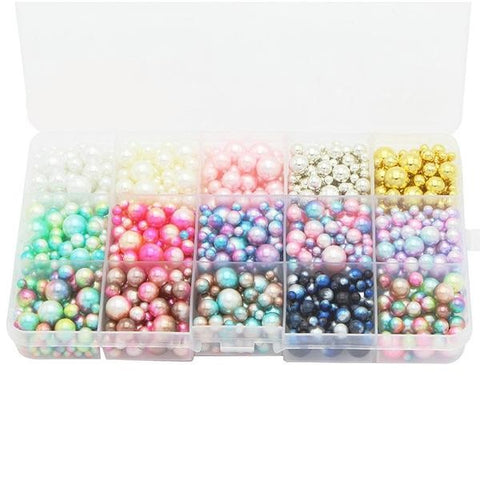 1500 pcs/lot Beads Mix Rainbow Color Round 4/6/8/10mm