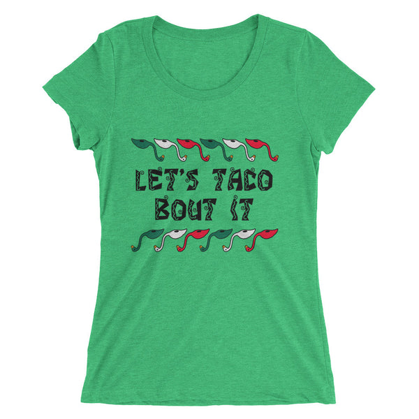 Ladies' Flabongo short sleeve t-shirt - Let's Taco Bout It!