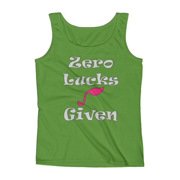 Ladies' Tank Top - St. Patrick's Day - Zero Lucks Given