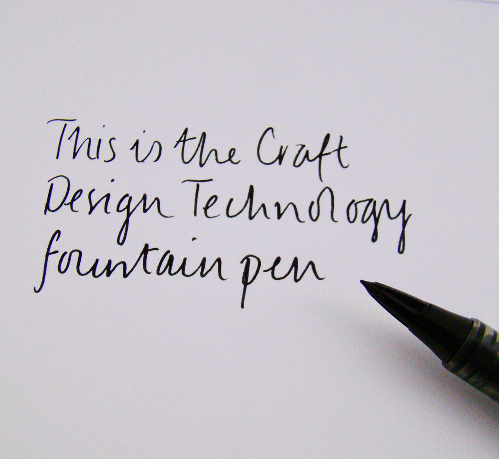 Craft Design Technology Tradio Plastic Fountain Pen Black By