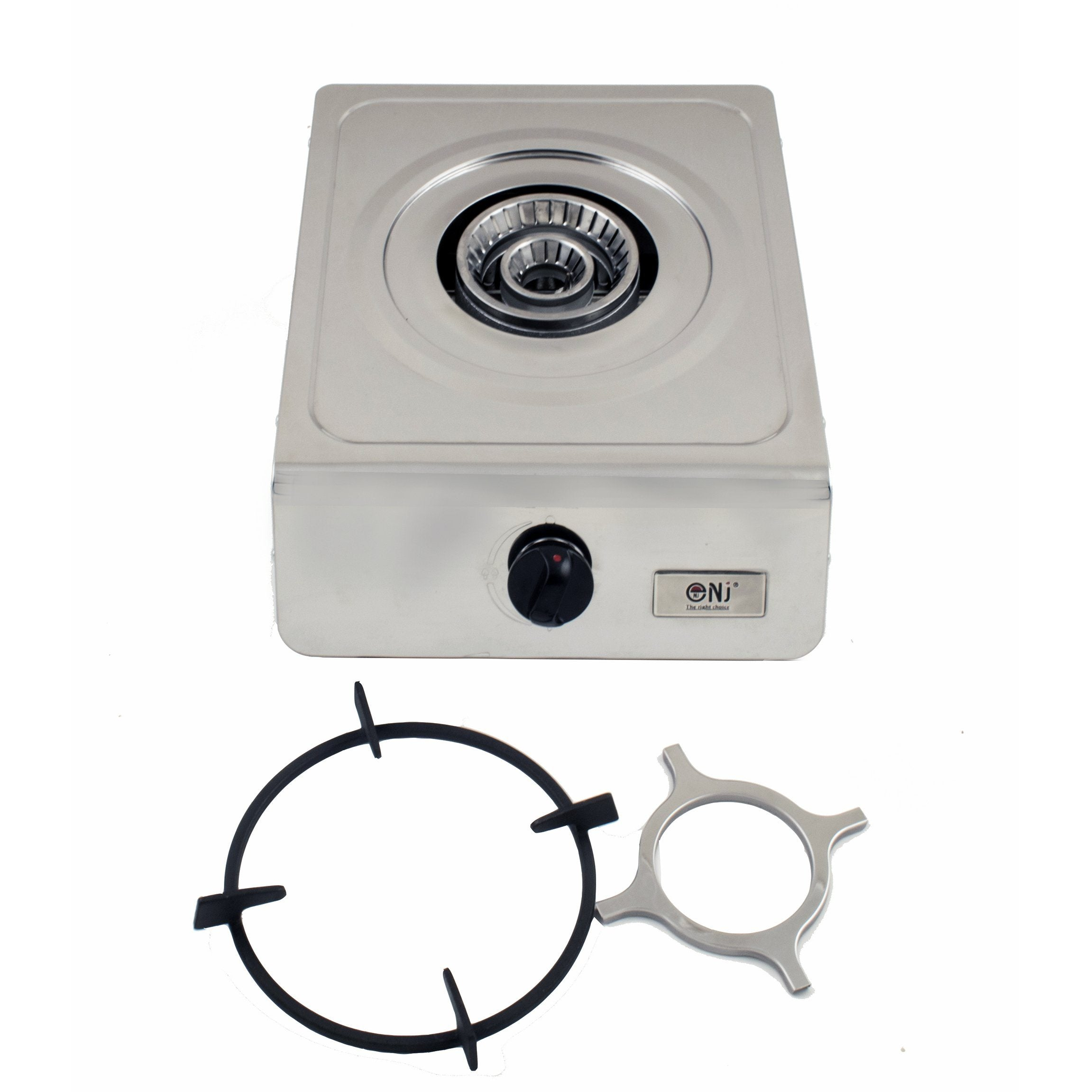 NJ-100 Portable Gas Stove Single Burner Cooker Stainless Steel Camping Hob 4.0kW