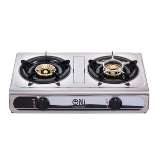 Portable 2in1 Gas Stove Oven Burner Double Cooktop Stainless Steel Cooker CO-01