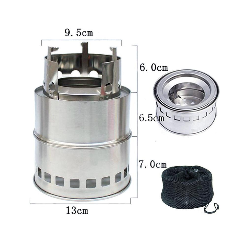 Nj Ws 002 Stainless Steel Mini Wood Burning Stove Outdoor