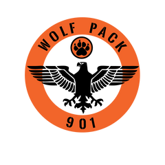 Wolfpack 901 Grill Badge Logo