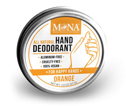 ORANGE ALL-NATURAL HAND DEODORANT | for DETOX & DEODORIZATION | 2.0 oz