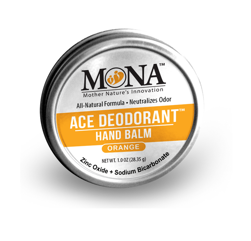 ALL-NATURAL ACE DEODORANT HAND BALM: ORANGE; 1.0 Oz (Travel size); Eliminates bad odor from hands