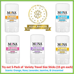 MULTI-PACK TRAVEL SIZE: 5-PACK SENSITIVE DEODORANT STICKS