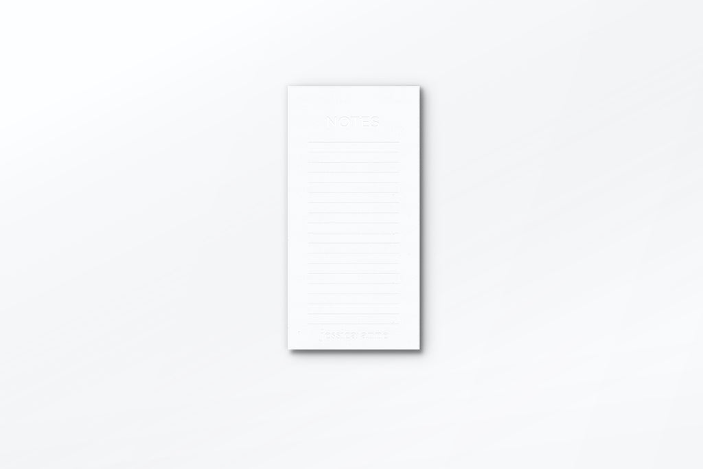 Pure White Notepad