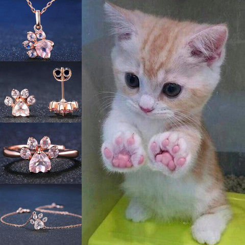 Adorable Cat Paw Jewelry