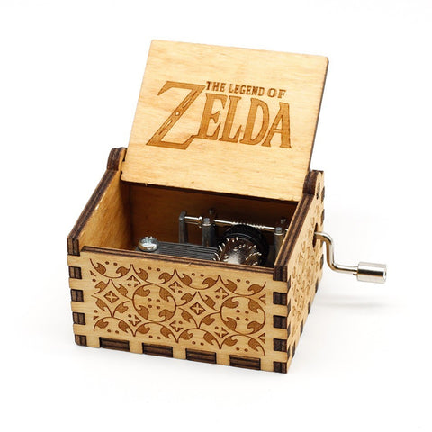 Antique Carved Music Box - The Legend of Zelda