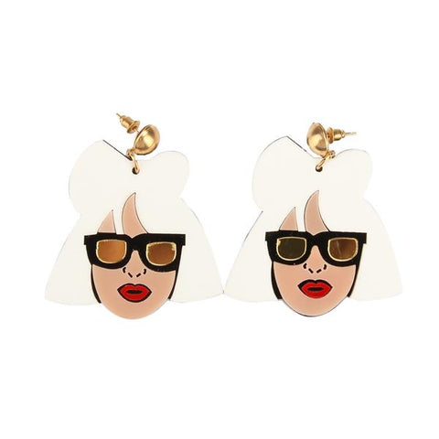 Funky Lady GG Drop Earrings