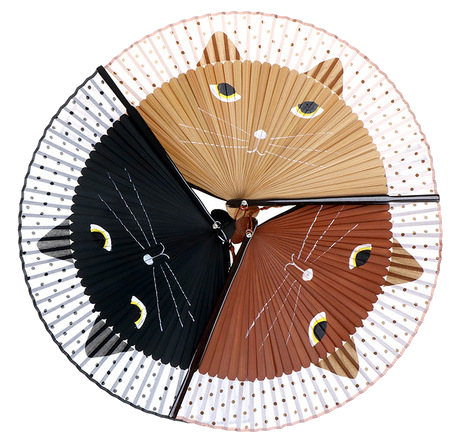 Kawaii Kitty Folding Fan