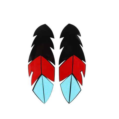 Kitsch Feather Earrings