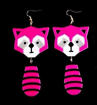Pink Panda Drop Earrings