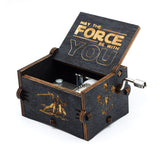 Antique Carved Music Box -Star Wars