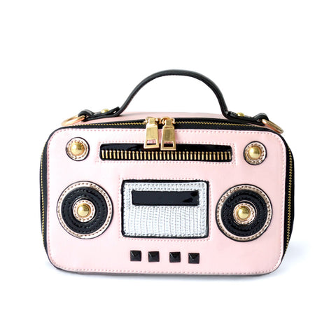 Retro Boom Box Crossbody Bag