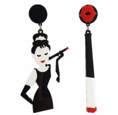 Kitsch Audrey Hepburn Inspired Drop Earrings