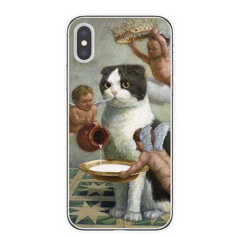 Classical Art Cat iPhone Case