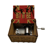 Antique Carved Music Box -Let It Be -The Beatles
