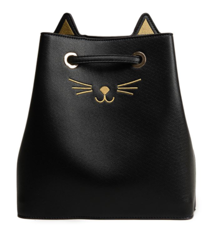 Purrfect Bucket Drawstring Bag