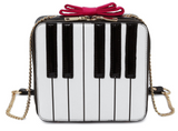 Kawaii Piano Keys Pink Bow Crossbody Bag