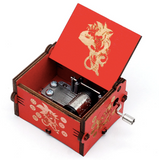 Mistra Antique Carved Music Box - Digimon