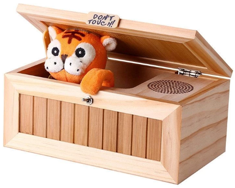 Funny Tiger in a Box