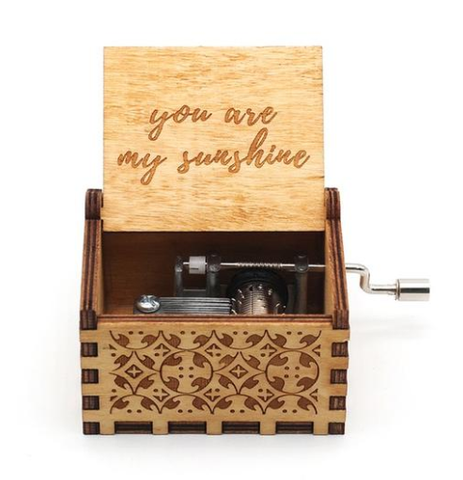 Antique Carved Music Box- You Are My Sunshine